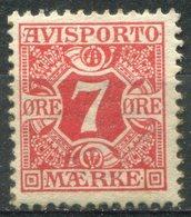 DANEMARK -  JOURNAUX  Y&T  N° 3 *...perf 12,5 - 1905-12 (Frederik VIII)
