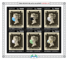 SIERRA LEONE 2020 - Penny Black COVID-19. Official Issue [SRL200321] - Stamps On Stamps