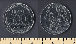 Brazil 5000 Cruzeiro 1992 - Brasil