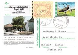 Austria 1996 Postal Stationery Card SCHATTENDORF Fauna Bird Vogel Oiseau - Northern Lapwing (Vanellus Vanellus); ATM; - Entiers Postaux