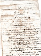 1819/20 Corresp. De 4 Lettres à M. MARTIN, Médecin, Rue De La Charité à NARBONNE De PH. SAHUQUE De TOULOUSE - Documents Historiques