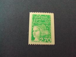 "1997-04- NEUF ++  N°  3100 - Roulette N°  310  "" MARIANNE DE LUQUET  ,2.7 Vert""   Net  1.25 - 1997-04 Marianna Del 14 Luglio"