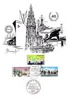Feuillet 2186 à 2188 Guerre Libération Signé Par Le Dessinateur Anvers Antwerpen Bateau Nuts Liberty - Panes