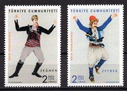 2019 TURKEY FOLK DANCES MNH ** - 1921-... Republic