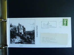 Z17 - Collection De 64 Cartes Illustrées Chacune D'une Ville Et Flamme En Rapport - Années 1991 Et 1992 - Dos Vierge - Poststempel (Briefe)