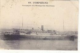 """PAQUEBOT """" S.S. COMPIEGNE """" Cie DES MESSAGERIES MARITIMES.1924.DE DJIBOUTI A PHU KIEN (TONKIN) .B.ETAT.A SAISIR - Paquebots"""
