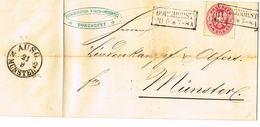 1865  Lettre De BORGHORST Vers Münster Avec 1Sgr Carmin - Prusse