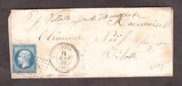 LAC - 11 8 1859 - T22 Vittel Pour Villotte Près Lamarche (Vosges) - PC 3664 Sur 14A (belle Var Sans Filet Inf)- Redirigé - 1849-1876: Période Classique