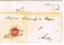 1863  Lettre De GESEKE (R2)  Vers Münster Avec 1Sgr Carmin - Prusse