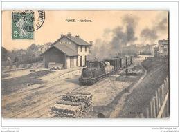 CPA 71 Flacé La Gare Et Le Train Tramway Ligne De Macon Fleurville - France