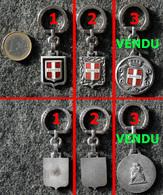 AUGIS Porte-clé Ancien NEUF Écusson De SAVOIE Tour Argenté (Photo 2 Au Centre) - Key-rings
