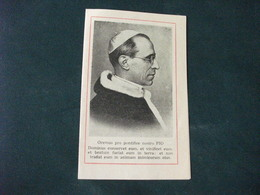SANTINO HOLY PICTURE IMAIGE SAINTE  PAPA PIO XII PREGHIERA DURANTE LA GUERRA - Religion & Esotérisme