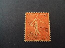 """1903-60-Oblitéré  N°  199 """" SEMEUSE, 50c Rouge""""   Net  0.50  """"   Paris  """" Net 0.50   Photo  12 - 1903-60 Semeuse Lignée"""