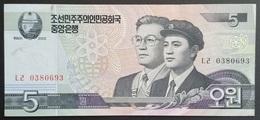 RS - North Korea 5 Won Banknote 2005 - Korea, Noord
