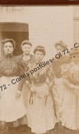 CPA - Photo Carte - Portrait De Groupe - Cinq Femmes - Couturières ? - Fotografia