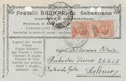 Villanova Di Bagnocavallo. 1926. Annullo Guller Su Cartolina Postale PUBBLICITARIA - Storia Postale