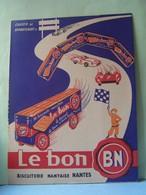 """PROTEGE-CAHIER. PUBLICITE ALIMENTAIRE. LE BON B.N. NANTES. 101_0023TRC""""a"""" - Protège-cahiers"""