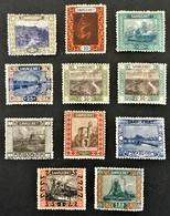 1921 Heimische Bilder *) Mi.53, 54, 55, 56, 57, 58, 60, 61, 62, 63, 64 - Neufs