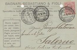 Villanova Di Bagnocavallo. 1914. Annullo Guller Su Cartolina Postale PUBBLICITARIA - Storia Postale