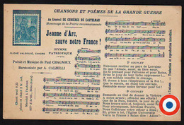 FRANCE: Timbre N°257 Jeanne D'Arc Neuf Sur Une Carte Porte - Timbre: Jeanne D'Arc Sauve Notre France! - Variétés Et Curiosités