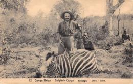 1918 - Congo Belge - Katanga - Zèbre - Zebra - De Thysville à Arcachon - Belgisch-Kongo - Sonstige