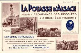 Buvard La Potasse D'Alsace La Potasse à La Mine La Potasse Au Vignoble L'Engrais Potassique Agriculture Farming TB.E - Agriculture