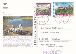 Austria 1994 Postal Stationery Card GASCHURN Architecture Castle Schlossberg Graz; Lion Löwe; Church Tourism Lake - Entiers Postaux
