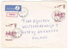 Poland, Expres Cover, Label,  1987, Perf. - 1944-.... Republik