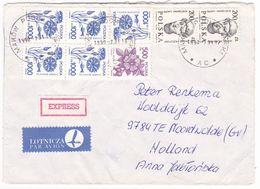 Poland, Expres Cover, Label,  1990, Roul.. - 1944-.... Republik