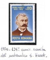 ROMANIA - SG 4231 - 1976  S. HARET, MATHEMATICIAN   - USED - RIF. CP - 1948-.... Républiques