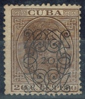 C00200 CUBA 1883. ALFONSO XII SOBRECARGADOS. (ARAÑITAS). EDIFIL 82. - Cuba (1874-1898)