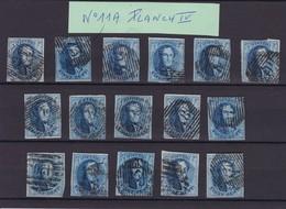 N° 11 A  PLANCHE IV  :  16 Timbres Margés Et Planchés - 1858-1862 Medallions (9/12)