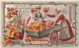 Chromo - Chocolat GUERIN-BOUTRON, Paris - Fleurs - Giroflée - Paris - Guerin Boutron