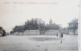 Cartolina Pianezza - Piazza Umberto I. Via Alpignano - 1910 - Italie