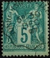 -Sage N°75  Type Ll.   AMBULANT. - 1876-1898 Sage (Type II)