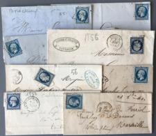 France N°14 - Lot De 8 Lettres - (W1565) - 1849-1876: Période Classique