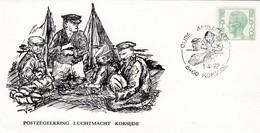 Enveloppe M2 Elström Postzegelkring Luchtmacht Koksijde - Military (M Stamps)