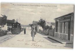 CPA 33 Le Porge Centre Du Bourg Petit Train Allant à La Foret - Chemin De Fer Industriel - Francia