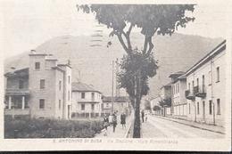 Cartolina S. Antonino Di Susa - Via Stazione - Viale Rimembranza - 1938 - Italie