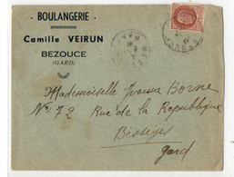 B11  194...lettre Entete Boulangerie Camille Veirun A Bezouce Dans Le Gard - 2. Weltkrieg 1939-1945
