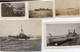PHOTOS DE BATEAU DU GUERRE MARINE NATIONALE ET L ESCOSTEUR LA GALISSONIERE CROISEUR ALGER 1936 - Bateaux