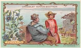 Chromo - Chocolat GUERIN-BOUTRON, Paris - Fleurs - Pervenche - Irlande - Guerin Boutron