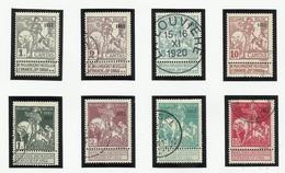 Belgique N° 92 à 99 Oblitérés De 1911 - 1910-1911 Caritas