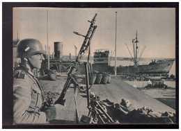DT- Reich (008976) Propagandakarte Während Ständig Neue Truppentransporte Im Hafen Von Oslo Eintreffen, Ungebraucht - Germany