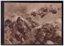 DT- Reich (008975) Propagandakarte Ein Deutsches Kampfflugzeug Greift Im Tiefflug Polnische Stellungen An, Ungebraucht - Lettres & Documents
