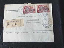 Lettre Recommandée De Paris 43 (rue Littré). 1954 - 1921-1960: Période Moderne
