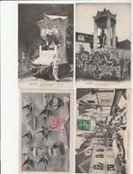 4 CPA:SOUVENIR D'AUXERRE (89) PLACE DE L'HÔTEL DE VILLE,CHAR Mne GIBOU RETRAITE ILLUMINÉE,CHAR DES MANDOLINISTES - Auxerre