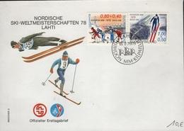 SKI-L95 - SUEDE FDC Championnat Du Monde De Ski Nordique 1978 Lahti - FDC