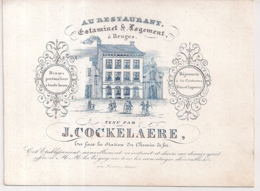"BRUGGE-BRUGE""ESTAMINET LOGEMENT AU RESTAURANT-J.COCKELAERE""LITH.DAVELUY-140/105MM - Porseleinkaarten"