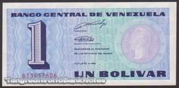 TWN - VENEZUELA 68 - 1 Bolivar 5.10.1989 Prefix B UNC - Venezuela